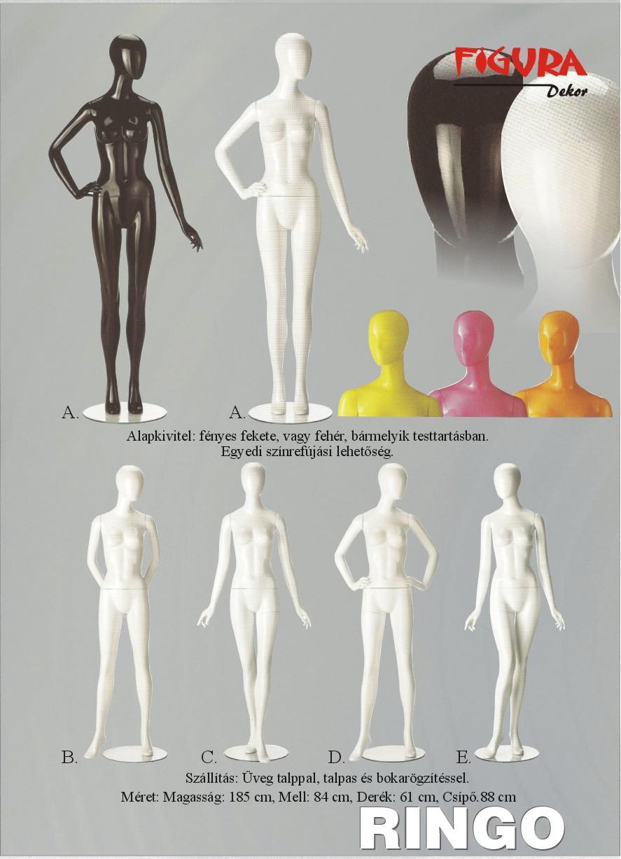 Ringo női kirakati baba a Figura Dekortól