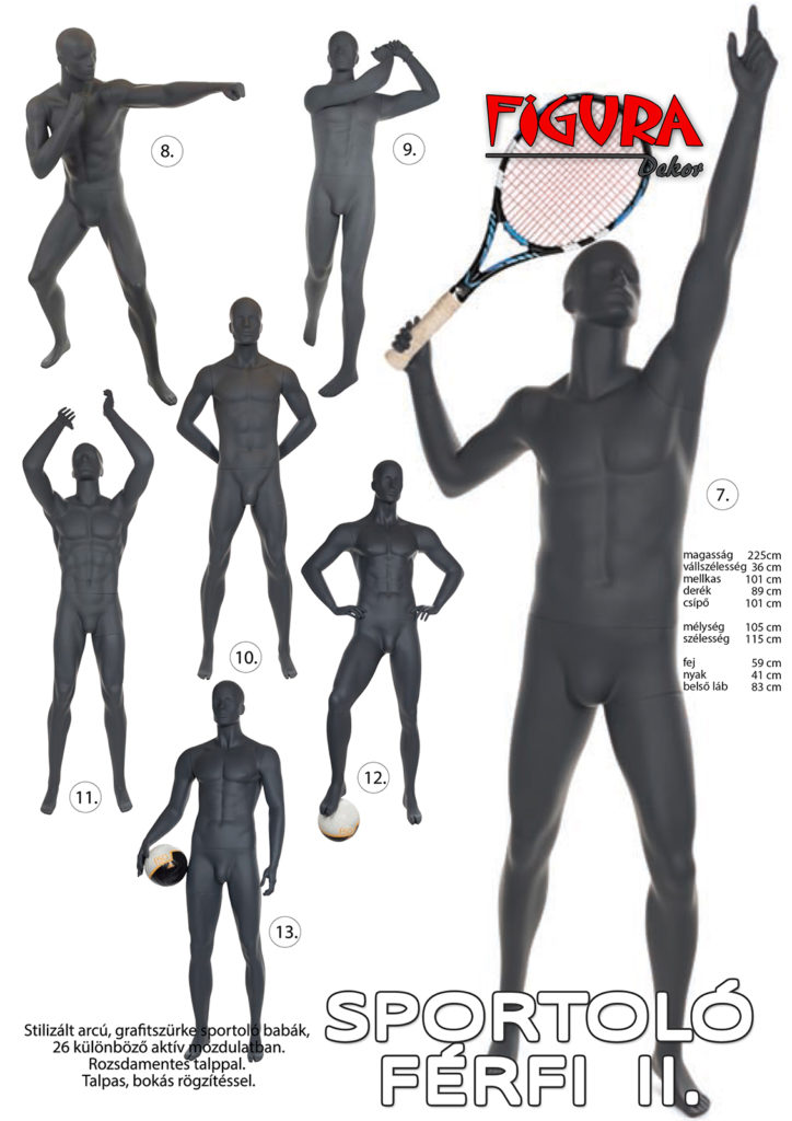 Sportoló férfi II. kirakati baba